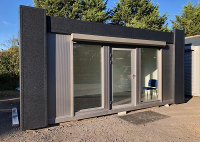 Portable Office 6m x 3m (10ft x20ft) with electric roller shutters with remote control